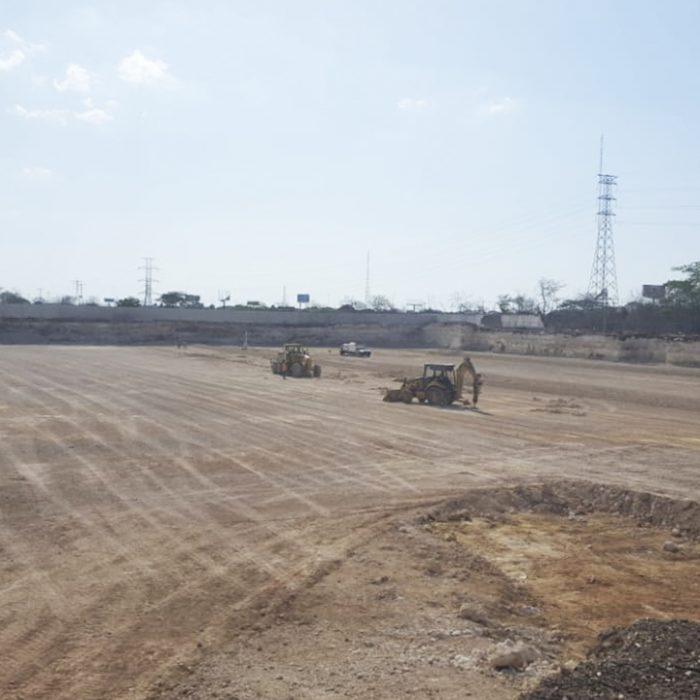 Trabajos de excavación en The Harbor Mérida